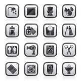Black an white bathroom and Personal Care icons Stock Photos