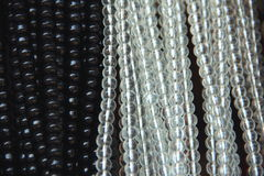 Black and white beads. Stock Photography