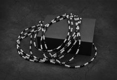 Black and White Beads Stock Images