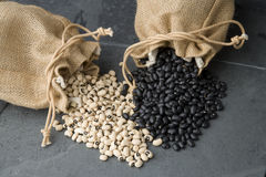 Black and White Beans stock photography