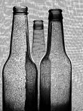 Black & White Beer Bottle Background Stock Image