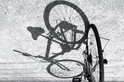 Black and white a bicycle Stock Photography