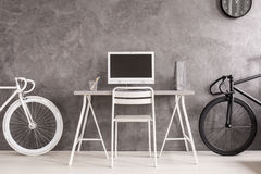 Black or white bicycle Royalty Free Stock Photo