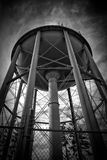 Black and White Big Water Tower Royalty Free Stock Image