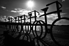 Black and white bikes Stock Photo
