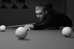 Black and white billiard Royalty Free Stock Image