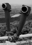 Black and white binoculars in mountains Royalty Free Stock Photography