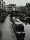 Black and white of birmingham canal Royalty Free Stock Image