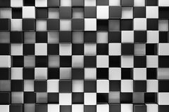 Black and white blocks. Abstract background Royalty Free Stock Photography