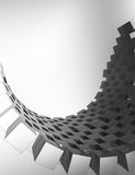 Black and white blocks abstract background.  Stock Photography