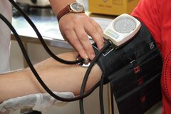 Black and White Blood Pressure Kit Stock Photos