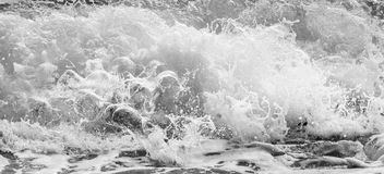 Black and white and blue sea Royalty Free Stock Image