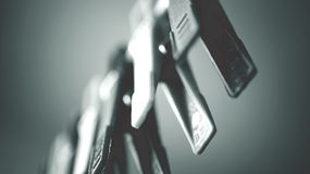 Black-and-white, Blur, Clothespins, Dark Royalty Free Stock Photography