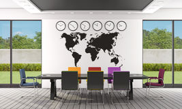 Black and white boardroom Stock Photos