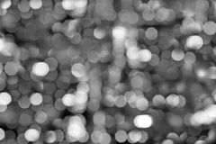 Black and white bokeh Royalty Free Stock Photography