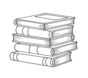 Black and white - books Stock Photography