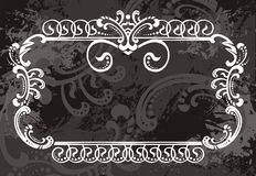Black and white border Royalty Free Stock Photography