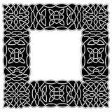 Black - white border Celtic or Arabic style in the form of frame Royalty Free Stock Photo
