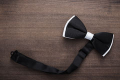 Black and white bow tie background Stock Photos