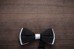 Black and white bow tie background Royalty Free Stock Photography