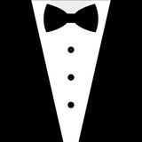 Black and white bow tie tuxedo Royalty Free Stock Photo