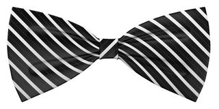 Black and white bowtie. 3d render of black and white bowtie Stock Images