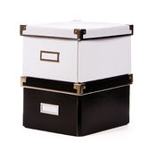 Black and white box. Isolated on white Royalty Free Stock Images