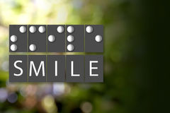 Black and White of Braille Alphabet meaning of SMILE. Stock Photography