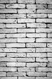 Black and white brick wall background Stock Photography