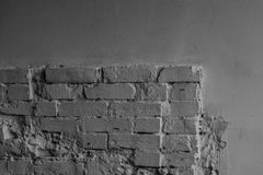 Black and white brick. Wall background Royalty Free Stock Photos