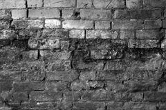 Black and white brick wall Stock Photos