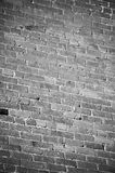 Black and White Brick Wall Stock Image