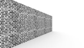 Black and white brick wall rendered Stock Photo
