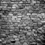 Black and white brick wall Royalty Free Stock Images