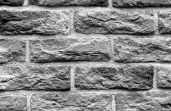 Black and white brick wall surface. Stock Photos