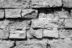 Black and White brick wall texture background Royalty Free Stock Images