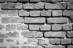 Black and White brick wall texture background Stock Photography