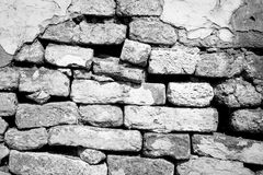Black and White brick wall texture background Royalty Free Stock Photography