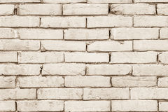Black and white brick wall texture background. Stock Photography