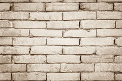 Black and white brick wall texture background. Stock Photos