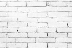 Black and white brick wall texture background . Royalty Free Stock Image