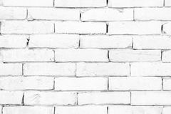 Black and white brick wall texture background . Stock Photo