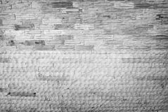 Black white brick wall texture. Dark light Stock Image