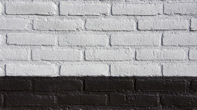 Black and white bricked wall Stock Photography