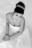 Black and White Bride Royalty Free Stock Photography
