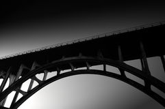Black and White Bridge Arc Royalty Free Stock Images