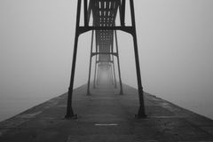 Black and White Bridge Photo Stock Photo