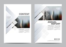Black and white Brochure Layout design template. Annual Report Flyer Leaflet cover Presentation Modern background. stock illustration