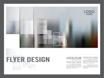 Black and white Brochure Layout design template. Annual stock illustration