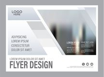 Black and white Brochure Layout design template. Annual vector illustration